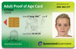 Image of the new Adult Proof of Age card